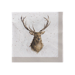 Wrendale Designs - Napkins - Cocktail - Wild at Heart (Stag)