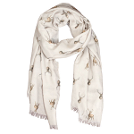 Wrendale Designs Scarf - Wild at Heart Stag Scarf