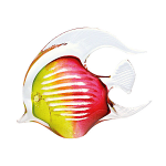 Svaja Paperweight Agnes Angel Fish Lime & Cherry