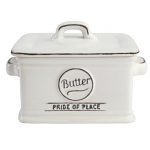 T&G Pride of Place Butter Dish in White