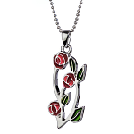 Mackintosh Pendant - Three Rose Enamel Pendant