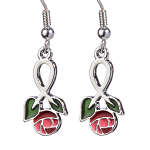 Mackintosh Earrings - Large Rose Enamel Earrings