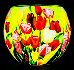 Benaya Tulips Light Glass Tealight Holder