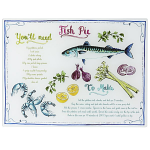 The English Tableware Company Dish of the Day Fish Pie Glass Worktop Saver