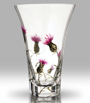 Nobile Glass Thistle 19cm Flared Vase