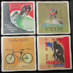Tour de France Bicycle Race Vintage Coasters