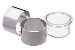 MasterClass Set of Two Stainless Steel Cooking Rings with Pusher
