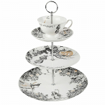 V & A - Alice In Wonderland 3 Tier Cake Stand - Boxed