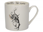 V & A - Alice in Wonderland Can Mug White Rabbit 350ml - Boxed