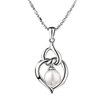 Newbridge Grace Kelly Pearl Heart Pendant