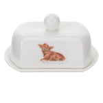 Royal Worcester Wrendale Designs - Covered Butter Dish Calf