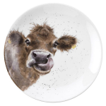Royal Worcester Wrendale Designs - Coupe Plate 16.5cm 6.5in - Cow