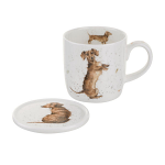 Royal Worcester Wrendale Designs - Mug and Coaster - Hello Sausage Dog