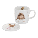 Royal Worcester Wrendale Designs - Mug and Coaster - Baby Bird Flying The Nest
