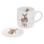 Royal Worcester Wrendale Designs - Mug and Coaster - Gentle Jack Donkey