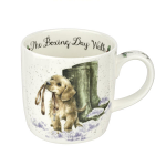 Royal Worcester Wrendale Designs - Christmas Mug - Boxing Day Walk Dog