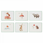 Royal Worcester Wrendale Designs - Placemats - Bumble Bee & Animal Set of 6
