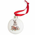 Royal Worcester Wrendale Designs - Christmas Bauble - Merry Little Xmas