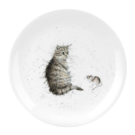Royal Worcester Wrendale Designs - Coupe Side Plate 20cm 8in - Cat & Mouse
