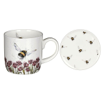 Royal Worcester Wrendale Designs - Mug and Coaster - Flight of The Bumble Bee
