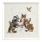 Royal Worcester Wrendale Designs - Square Plate Woodland Party 18cm 7in