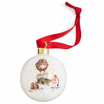 Royal Worcester Wrendale Designs - Christmas Bauble - Christmas Carol - Limited Edition