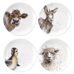 Royal Worcester Wrendale Designs - Coupe Plates 16.5cm Set of 4