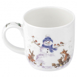 Royal Worcester Wrendale Designs - Mug - Gathered All Around Snowman