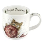 Royal Worcester Wrendale Designs - Purrfect Christmas Kittens Fine Bone China Mug