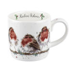 Royal Worcester Wrendale Designs - Rockin Robins Fine Bone China Mug