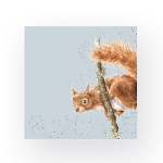 Wrendale Designs - Napkins - Cocktail - The Acrobat Squirrel