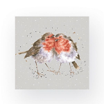 Wrendale Designs - Napkins - Luncheon - Snuggled Together Robins
