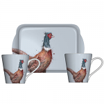 Royal Worcester Wrendale Designs - Mugs and Tray Set - Pheasant