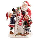 Aynsley Santa with Snowman and Children