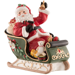 Aynsley Santa on Sleigh Musical Box