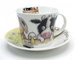 Roy Kirkham Breakfast Cup & Saucer - Please Shut the Gate - Farm