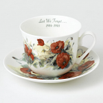 Roy Kirkham Breakfast Cup & Saucer - WW1 Poppy Lest We Forget
