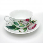 Roy Kirkham Redoute Rose Tea Cup & Saucer - Low
