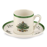 Spode Christmas Tree - Espresso Coffee Cup and Saucer 3oz
