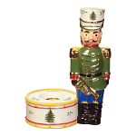 Spode Christmas Tree - Nutcracker Candle Holder Green 7inch