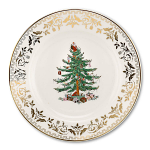 Spode Christmas Tree - Plate 8 inch 20cm with Gold Motif