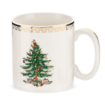 Spode Christmas Tree - Mug 8oz 0.22L with Gold Motif