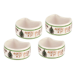 Spode Christmas Tree - Napkin Rings with Gold Motif - Set of 4