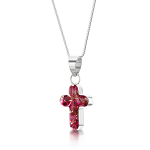 Shrieking Violet Heather Pendant - Small Cross
