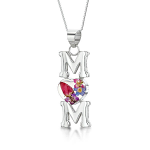 Shrieking Violet Mixed Flowers Pendant - MUM