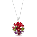 Shrieking Violet Bohemia Pendant - Poppy & Rose - Large Round