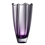 Galway Crystal Dune Amethyst Square Vase 10 inch