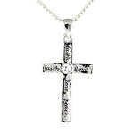 Christian Pendant - Cross Love Faith Peace