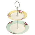 Aynsley Archive Rose Two Tier Cake Stand