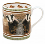 Robert Fuller - Badger on Lookout Bone China Mug